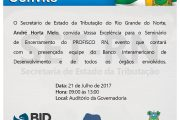 Seminário de encerramento do PROFISCO/RN – 21/07/2017